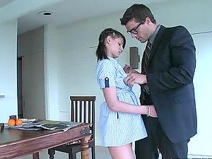 Beautiful Brown-haired Maid Kyle Moore Gets Fucked By Her Employer