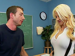 Hot Bang-out in the Classroom with Sexy Haley Cummings and Her Sweet Knockers