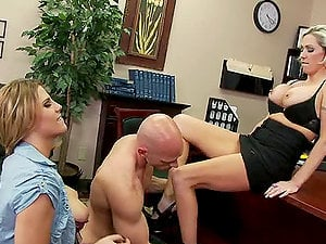 Casual Friday Threesome With Charisma and Kasey Grant