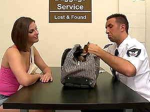 Anal invasion Banging for Chesty Dark haired Bobbi Starr in the Luggage Room