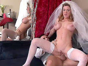 Best Man Getting Down With The Horny Blonde Bride Kayla Paige