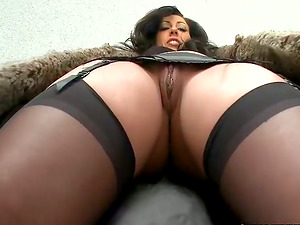 Oiled perversions with a curvy brown-haired hump doll