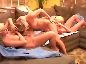 Sexy Lezzie Honeys With Big Knockers Smooching And Munching Each Other