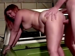 Check out this BBW who gets on her knees to suck dick before arching over