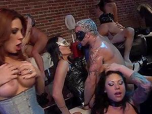 Hard-core Penis Sucking Weirdos In Wild Bang-out Orgy
