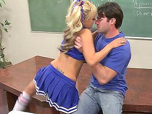 Fucking Blonde Cheerleader Briana Blair in Classroom