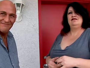 Mature BBW With Massive Tits Fucking Doggystyle In Horny Guys Room