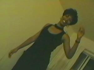 Fledgling Black woman gets rammed by Milky dude in a bathroom