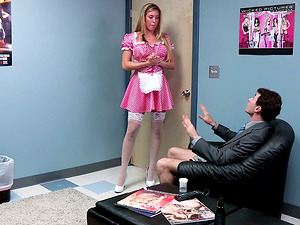 Dirty Maid In Uniform Fucking Like Crazy In Office