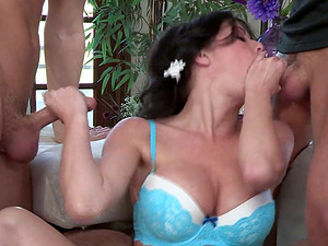 Honey With Nice Big Tits is Having a Hot and Wild Threesome