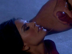 Fantastic Dark-haired Hooker With Big Tits Gets Ravaged Hard In The Garage