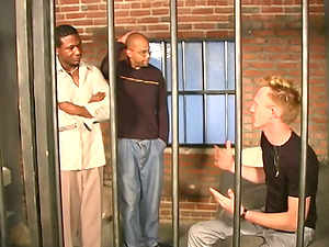 Very Horny Milky Dude Gets His Booty Fucked Hard In The Jail