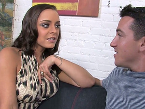 This cheating hubby sees as his wifey gets a hard interracial fucking