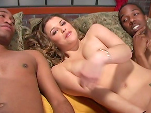 Milky Nymph in a Wild, Crazy MMF Interracial Threesome