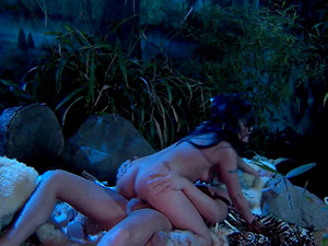 Kaylani Lei is SO Hot! Sexy Jungle Cavemen Fuck! She Spreads Broad for his Club!