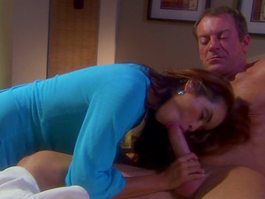 Daisy Marie rails big shaft and licks testicles with pleasure