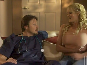 Hard-core lovemaking with a supah hot light-haired cougar Stormy Daniels