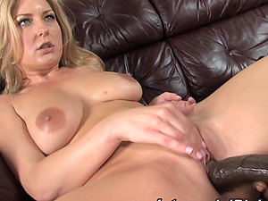 Pleasurable Avy Scott licks nuts and takes gigantic shaft in her labia