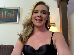 Mandy Lou, Milky Tramp with Skinny Feet for Fat Black Man rod!