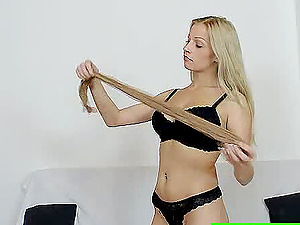 Here is a xxx flick featuring some nasty bitch in pantyhose getting her box rocked