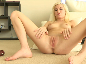Blonde Nubile With Natural Tits Takes Care Of Her Needs