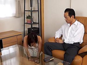 Japanese mom Momoka Ariyosh sates herself with a fake penis