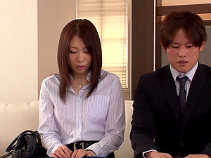 Japanese office female shows her beaver in reality act