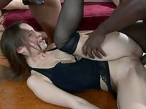 Black dudes are free to fuck one woman in all thre fuck holes
