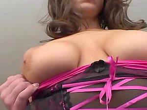 Delicious dark haired is grinding it for her twat