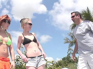Michelle Andrews gets her twat gobbled and pounded on a boat