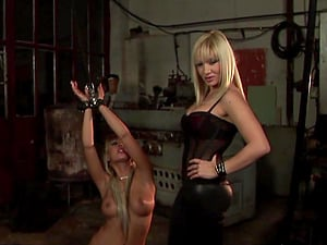 Sapphic Domination & submission scene with Adriana Russo and Lea Lexus