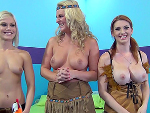 Hot Group Of Cougar Whores Loves Role Playing And Vulva Slurping