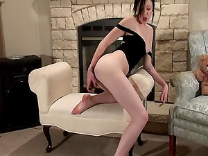 Gorgeous Brown-haired Chick Rylie Fake penis Getting off