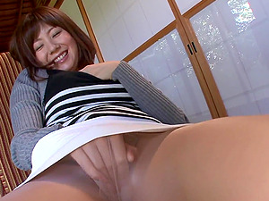 Lovely Asian Dame in Pantyhose Gives a Moist Oral job