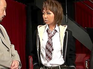 First-timer Japanese mom Hikari luvs frigging and gets fucked hard