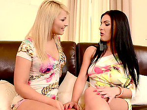 Lana and Honey Demon get their ass holes beautifully fucked in FFM vid