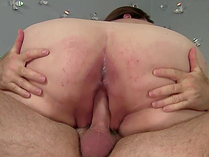 Horny fattie Bella Bendz gets her meaty cunt pounded by an old man