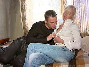 Lovely Blonde Liking A Hard-core Missionary Style Fuck In Her Bedroom