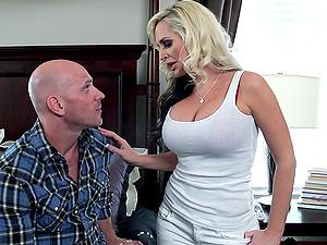 Pretty Blonde Cougar With Massive Tits Lovin? A Fantastic Cowgirl Style Fuck