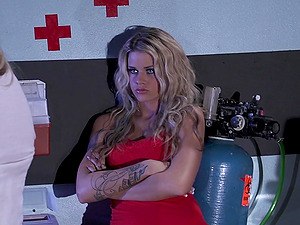 Tattooed Blonde With Lengthy Hair Guzzles Jism In Point of view Shoot