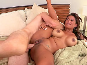 Pleasant Black-haired Groaning While Her Anal invasion Is Being Screwed