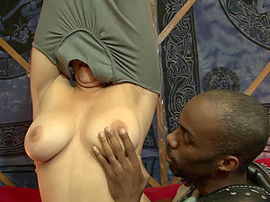 Interracial for the huge-chested Asian stunner Kat Major