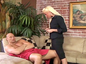Tattooed Cougar With A Strapon Pegging His Ass fucking Hard-core