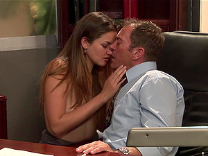 Allie Haze gets her vulva banged remarcably well in an office