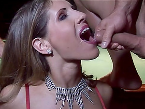 Winsome Cowgirl Getting Her Shaven Twat Smashed In Group Lovemaking
