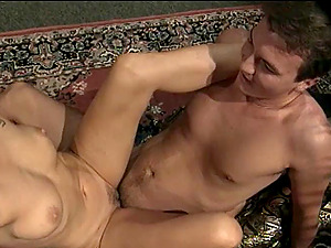 Romantic damsel providing her hairy man's dick superb handjob before getting hammered hard-core in close up shoot