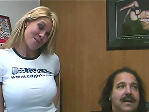 Lezzie With Lengthy Hair In Jeans Finger-tickling A Jiggly Labia