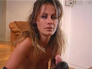Nasty Cougar In Panty With Hot Butt Give Lusty Handjob On Point of view