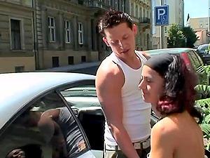 Kinky czech bombshells in a plucky public fuck venture