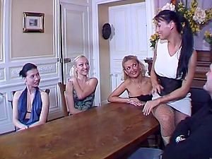 Pretty Cowgirl With Medium Donk Getting Smashed In Group lovemaking